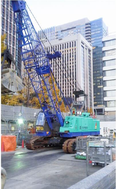 【機械掘削】丸の内3-2計画建築工事
